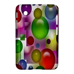 Colored Bubbles Squares Background Samsung Galaxy Tab 2 (7 ) P3100 Hardshell Case