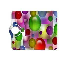 Colored Bubbles Squares Background Kindle Fire Hdx 8 9  Flip 360 Case