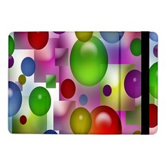 Colored Bubbles Squares Background Samsung Galaxy Tab Pro 10.1  Flip Case