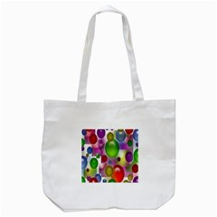 Colored Bubbles Squares Background Tote Bag (white)