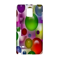 Colored Bubbles Squares Background Samsung Galaxy Note 4 Hardshell Case
