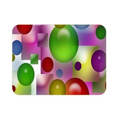 Colored Bubbles Squares Background Double Sided Flano Blanket (mini)