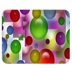Colored Bubbles Squares Background Double Sided Flano Blanket (Medium)