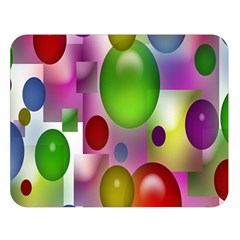 Colored Bubbles Squares Background Double Sided Flano Blanket (Large)