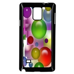 Colored Bubbles Squares Background Samsung Galaxy Note 4 Case (black)