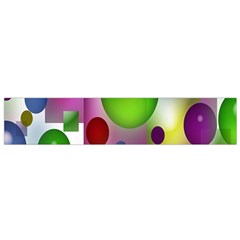 Colored Bubbles Squares Background Flano Scarf (small)