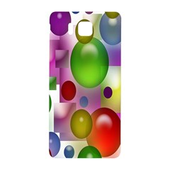 Colored Bubbles Squares Background Samsung Galaxy Alpha Hardshell Back Case