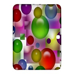 Colored Bubbles Squares Background Samsung Galaxy Tab 4 (10.1 ) Hardshell Case