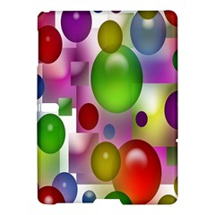 Colored Bubbles Squares Background Samsung Galaxy Tab S (10.5 ) Hardshell Case