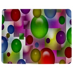 Colored Bubbles Squares Background Jigsaw Puzzle Photo Stand (Rectangular)