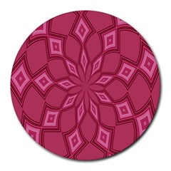 Fusia Abstract Background Element Diamonds Round Mousepads