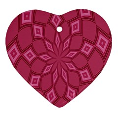Fusia Abstract Background Element Diamonds Ornament (Heart)