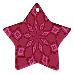 Fusia Abstract Background Element Diamonds Ornament (Star)