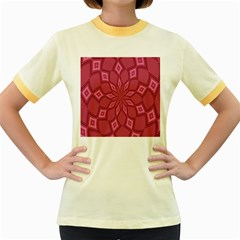 Fusia Abstract Background Element Diamonds Women s Fitted Ringer T-Shirts