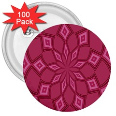 Fusia Abstract Background Element Diamonds 3  Buttons (100 Pack)