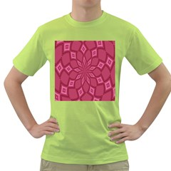 Fusia Abstract Background Element Diamonds Green T-Shirt