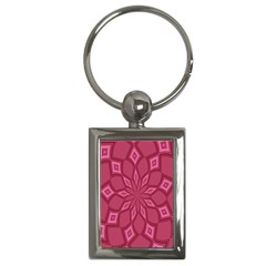 Fusia Abstract Background Element Diamonds Key Chains (rectangle)