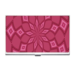 Fusia Abstract Background Element Diamonds Business Card Holders