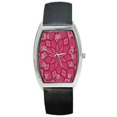 Fusia Abstract Background Element Diamonds Barrel Style Metal Watch