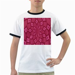 Fusia Abstract Background Element Diamonds Ringer T-Shirts