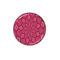 Fusia Abstract Background Element Diamonds Hat Clip Ball Marker (4 Pack)