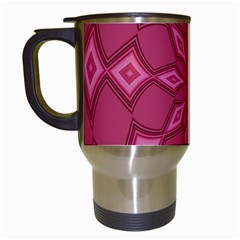 Fusia Abstract Background Element Diamonds Travel Mugs (white)