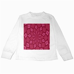 Fusia Abstract Background Element Diamonds Kids Long Sleeve T-Shirts