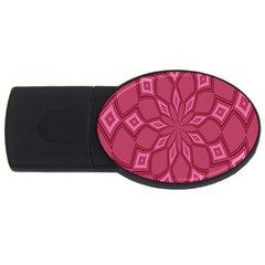 Fusia Abstract Background Element Diamonds Usb Flash Drive Oval (4 Gb)