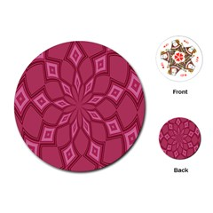 Fusia Abstract Background Element Diamonds Playing Cards (Round)