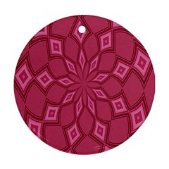 Fusia Abstract Background Element Diamonds Round Ornament (two Sides)