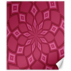 Fusia Abstract Background Element Diamonds Canvas 8  x 10