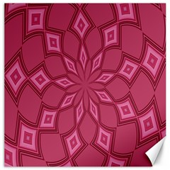 Fusia Abstract Background Element Diamonds Canvas 16  x 16