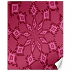 Fusia Abstract Background Element Diamonds Canvas 16  X 20