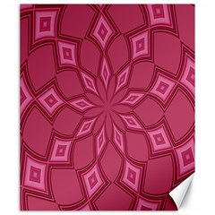 Fusia Abstract Background Element Diamonds Canvas 20  x 24
