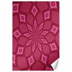 Fusia Abstract Background Element Diamonds Canvas 20  X 30