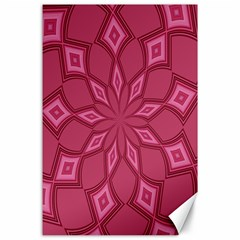 Fusia Abstract Background Element Diamonds Canvas 24  X 36