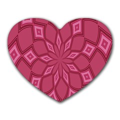 Fusia Abstract Background Element Diamonds Heart Mousepads