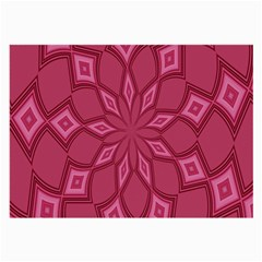 Fusia Abstract Background Element Diamonds Large Glasses Cloth (2 Side)