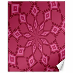 Fusia Abstract Background Element Diamonds Canvas 11  x 14