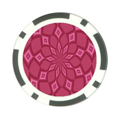 Fusia Abstract Background Element Diamonds Poker Chip Card Guard