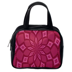 Fusia Abstract Background Element Diamonds Classic Handbags (one Side)