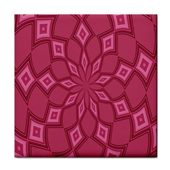 Fusia Abstract Background Element Diamonds Face Towel