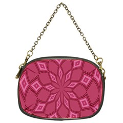 Fusia Abstract Background Element Diamonds Chain Purses (one Side)