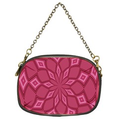 Fusia Abstract Background Element Diamonds Chain Purses (Two Sides)