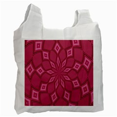 Fusia Abstract Background Element Diamonds Recycle Bag (two Side)
