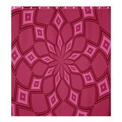Fusia Abstract Background Element Diamonds Shower Curtain 66  x 72  (Large)