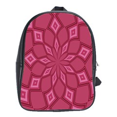 Fusia Abstract Background Element Diamonds School Bags(Large)