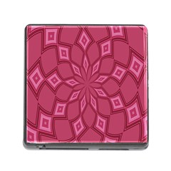 Fusia Abstract Background Element Diamonds Memory Card Reader (Square)