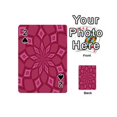 Fusia Abstract Background Element Diamonds Playing Cards 54 (Mini)