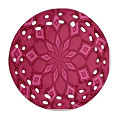 Fusia Abstract Background Element Diamonds Ornament (round Filigree)